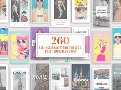 260 Instagram Stories & Templates media social templates instagram bundles bundle template story stories