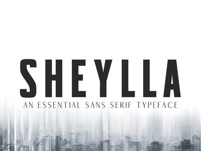 Sheylla Sans Serif Typeface stylish simple serif sans modern minimalist luxury logo font headline fonts text
