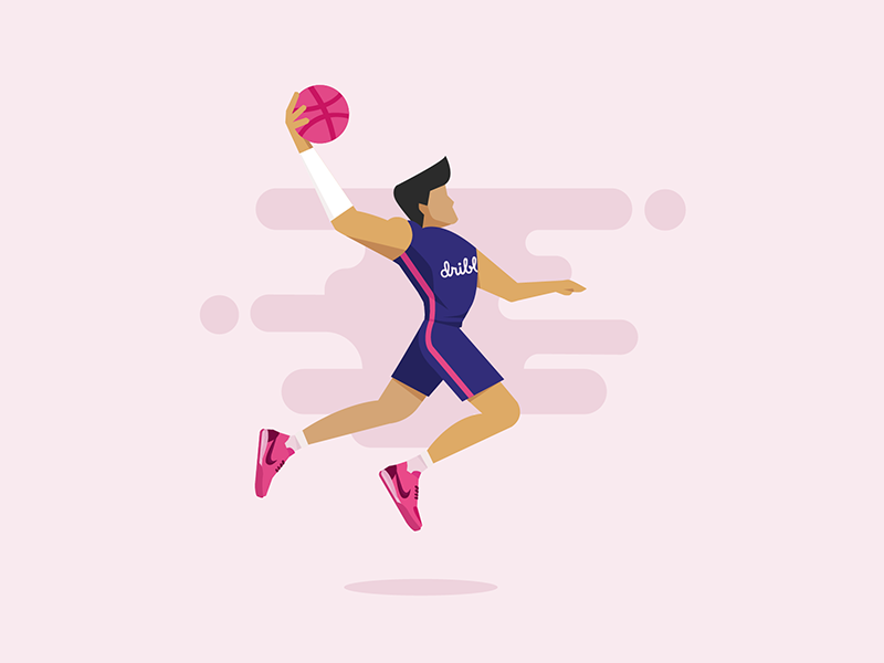 Hi, Dribbblers! digital design dribbble debut shot first creative vector character illustration