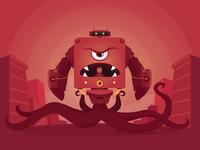 It's Mon(ster)day! design graphic monster robot vector character illustration
