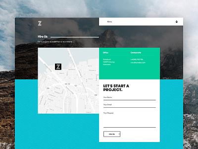 Zurisch landing page ui design web design contact team website interface uiux