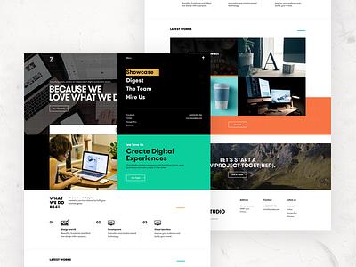 Zurisch home page landing page ui design web design uxdesign uidesign team website interface ux ui