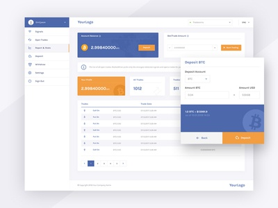 Crypto Dashboard ux design ui design web design cryptocurrency trading dashboard website web interface ux ui