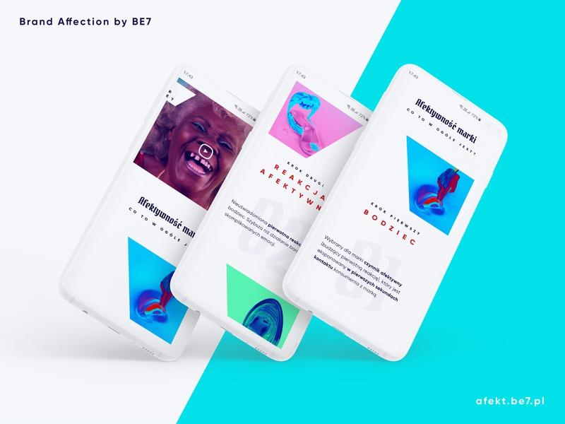 Brand Affection by BE7 - landing page mobile ui mobile www web webdesign brandaffection brand affection brand affection website design lp landing page page landing landingpage