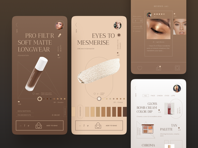 Beauty store app cosmetics inspiration ux cart shop mobile ui design beauty store makeup app ecommerce layout app ui
