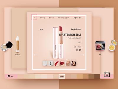 Makeup Store concept concept web website ui store makeup