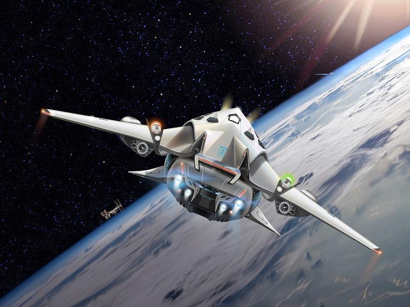 Future vehicle illustration dribbble communication 2020 calendar vector illustration earth space vehicle spaceship