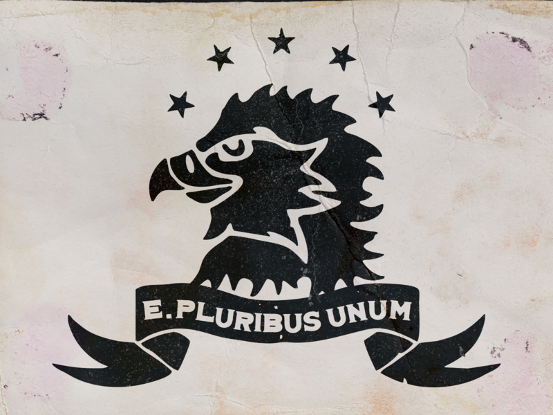 E Pluribus Unum retro vector photoshop drawing illustration logo illustrator graphic design design art