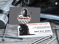 Caveman Construction Business Cards