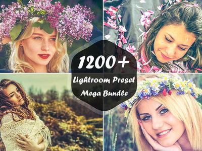 1200+ Lightroom Presets Mega Bundle fashion presets splittone presets underwater lightroom presets bw lightroom filter cinematic lightroom presets matte lightroom presets lightroom presets bundle