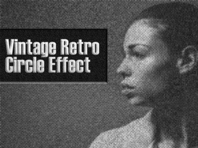 Vintage Retro Circle Effect non destructive action 1 click action photoshop cs3 action photoshop action vintage retro circle effect vintage photoshop action