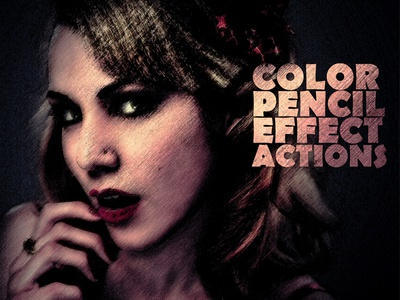 Color pencil sketch photoshop action by farhan ahmad dribbble