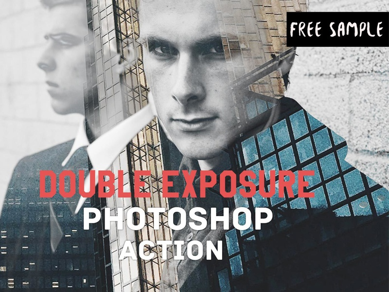 Free Double Exposure Photoshop Actions Ver 1 by Farhan Ahmad