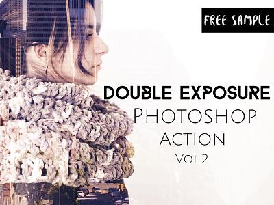 Double Exposure Photoshop Action Vol. 2 photoshop action double exposure photoshop action double exposure action photoshop cs3 photoshop cc overlays hipster gradient exposure double exposures blending action