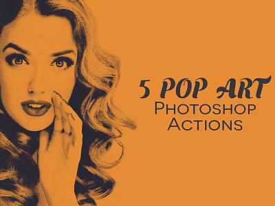 Free Pop Art Photoshop Actions sketch pop art 90s 80s cartoon corrections color special tone instagram effect duotone halftone