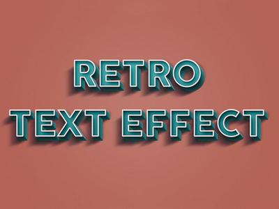 Free Retro PSD Text Effect