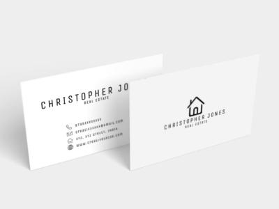 Free Minimal Business Card Ver. 3 real estate card free minimal business card business card design minimalist business card advertising business card branding logo branding best business cards real estates business cards designer card