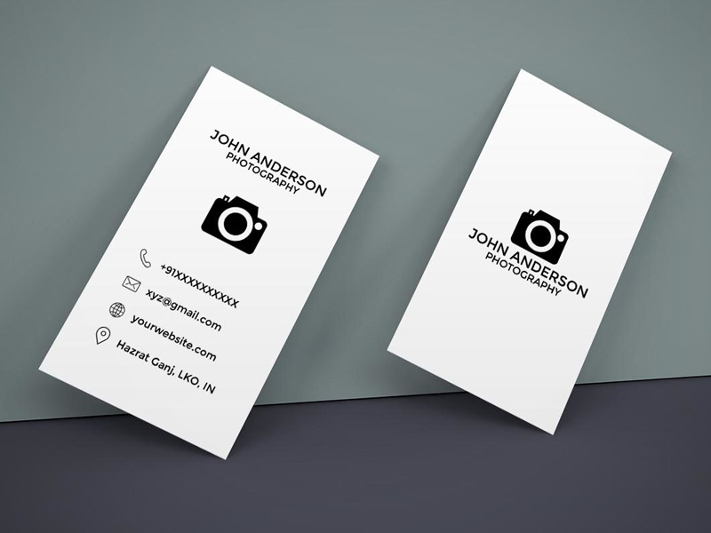 Free Photography Vertical Business Card by Farhan Ahmad - Dribbble
