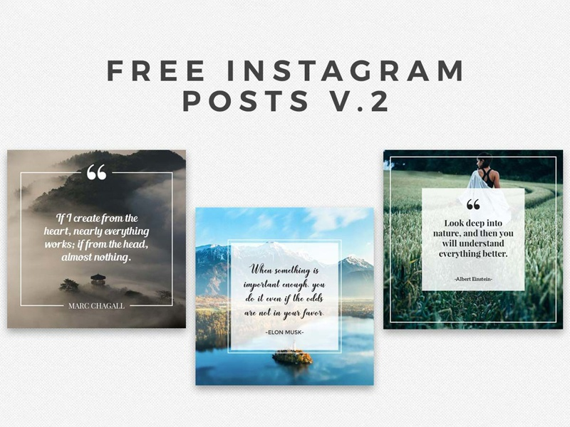 5 Free Instaframe Posts Ver. 2 web elements blogger web insta png collection promotional pack promo photography shape psd mask social media social pack social instagram photoshop