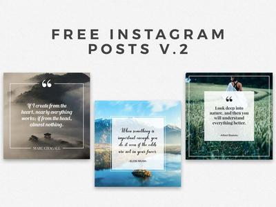 5 Free Instaframe Posts Ver. 2 by Farhan Ahmad - Dribbble