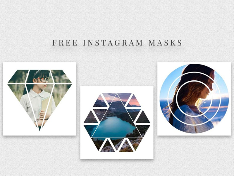 5 Free Instagram Masks PSD Templates instagram masks mask social pack social media web elements mockup instagram post instagram social media blog post blog social pack photoshop template template photo mask