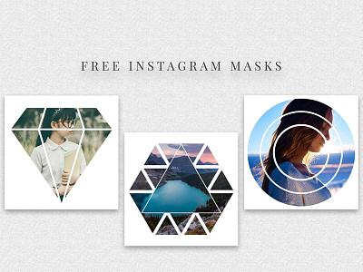 5 Free Instagram Masks PSD Templates instagram masks mask social pack social media web elements mockup instagram post instagram social media blog post blog social pack photoshop template template photo mask