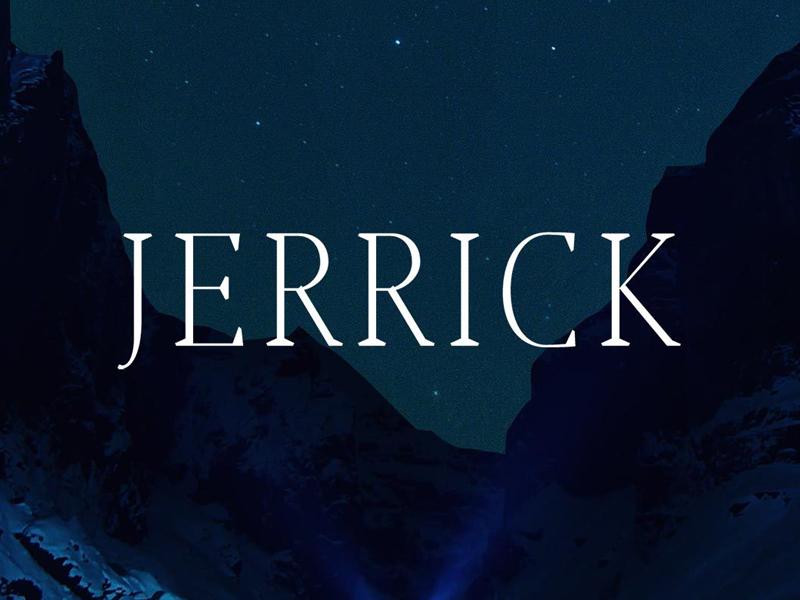 Free Jerrick Serif Font invitations wedding designer fonts opentype webfont headlines commercial logotype branding bold font