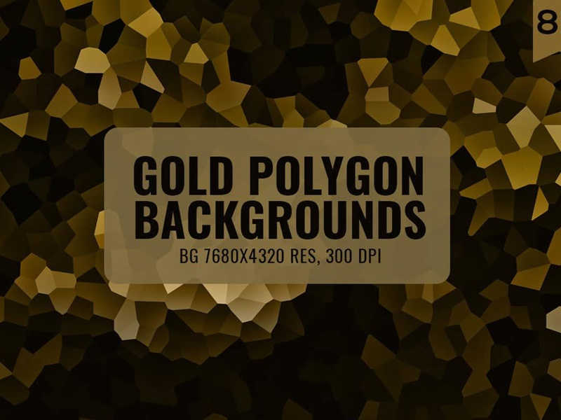 12 Free Gold Polygon Backgrounds set wallpaper triangle pattern mosaic backgound vector polygonal polygon abstract