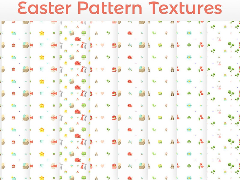 11 Free Easter Eggs Patterns HD Textures by Farhan Ahmad for