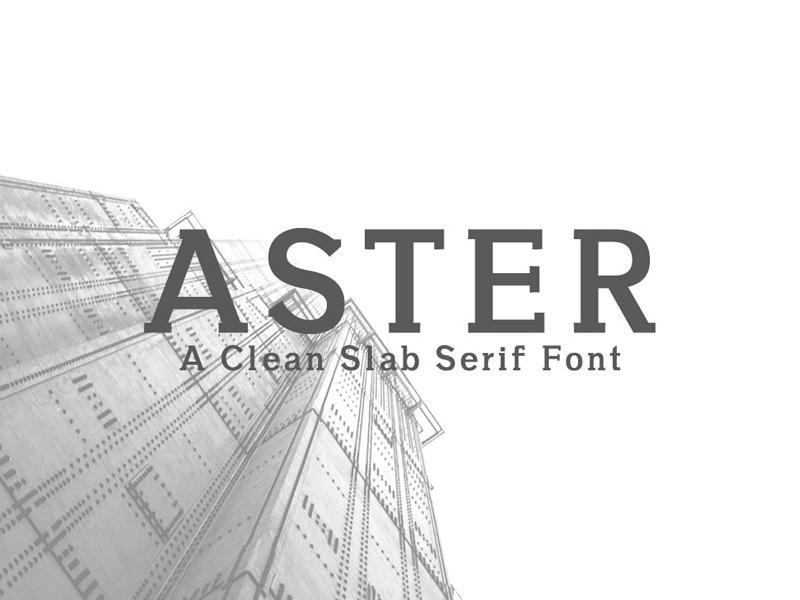 Free Aster Slab Serif Regular Font by Farhan Ahmad for
