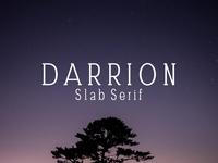 Free Darrion Slab Serif Demo Font