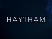 Free Haytham Slab Serif Font