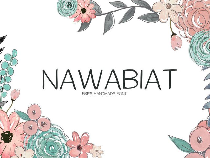 Free Nawabiat Handwriting Font cute urban wedding handlettered fonts pretty writing elegant header fancy