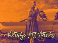 Free Vintage Art Actions Trio