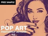 Free Pop Art Photoshop Actions V2