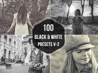 100 B&W Lightroom Presets