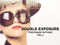 DOUBLE EXPOSURE PHOTOSHOP ACTIONS V2