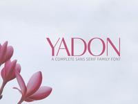Yadon Sans Serif 7 Fonts Family Pack
