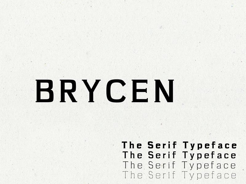 Brycen Serif Premium 7 Font Family by Farhan Ahmad for