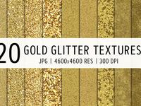 20 Gold Glitter Textures