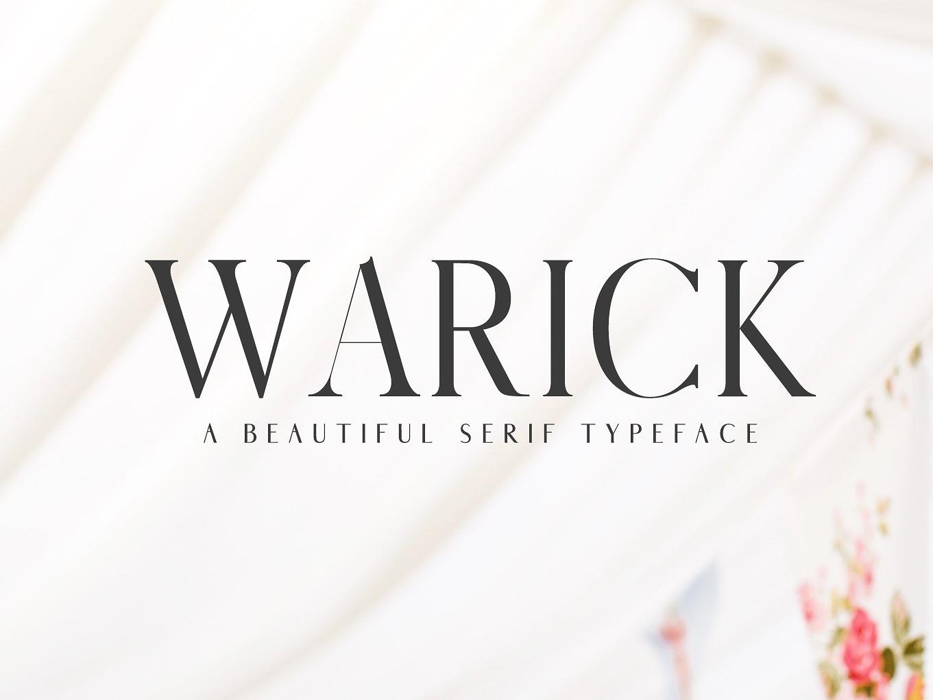 Warick Serif Font Family design handlettered modern header clean wedding fonts elegant font