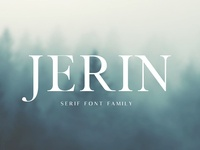 Jerin Serif Font Famiy