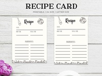 Free Recipe Card Printable