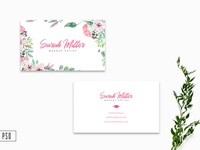 Free Floral Business Card Template V2