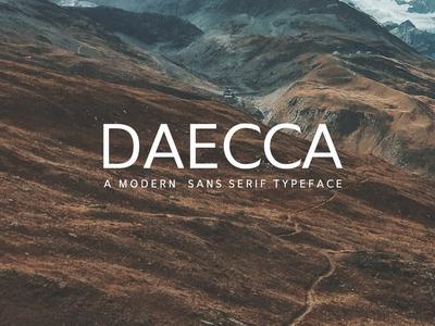 Free Daecca Sans Serif Typeface