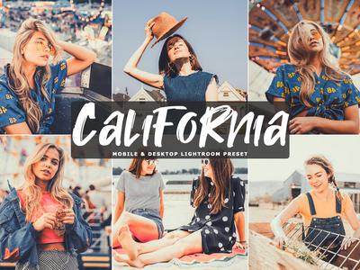 Free California Mobile Desktop Lightroom Preset