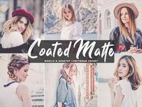 Free Coated Matte Mobile Desktop Lightroom Presets Cover
