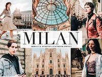 Free milan mobile desktop lightroom preset cover
