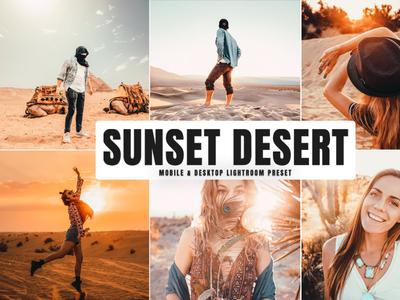 Free Sunset Desert Mobile Desktop Lightroom Preset