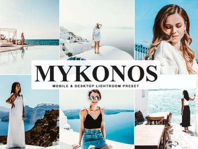 Free Mykonos Mobile & Desktop Lightroom Preset